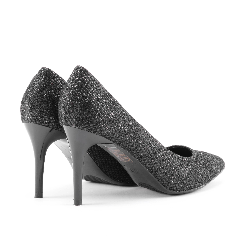 Fekete női csillámos műbőr magassarkú - ALKALMI CIPŐK - Női cipő ... 126d2866a5