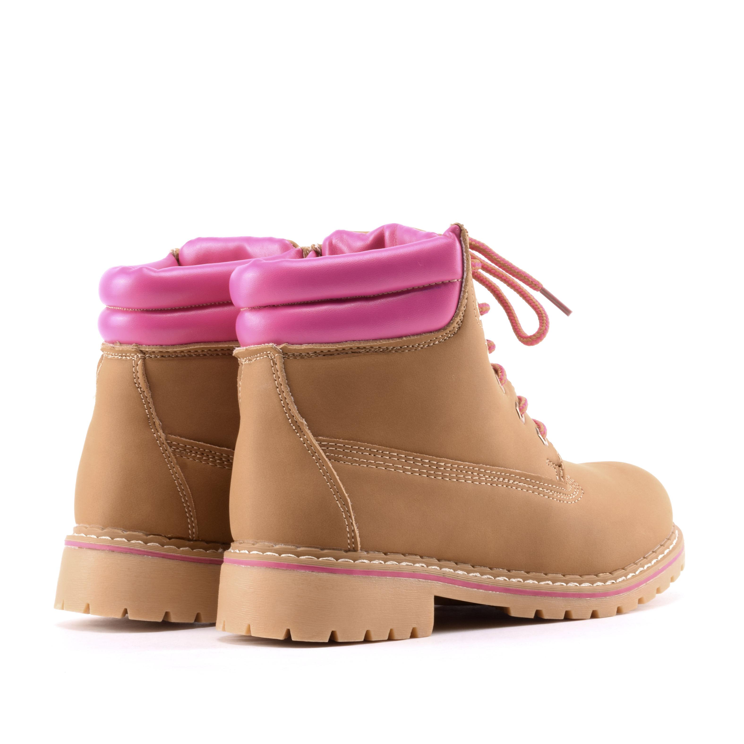 Mustár színű női műbőr bakancs - BAKANCSOK - Női cipő webáruház-női ... f4fcc81707